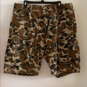 Levi's Camo Snap Cargo Shorts